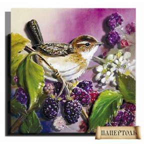"""Картина из бумаги Папертоль РТ150102 """"Летняя пташка"""""""