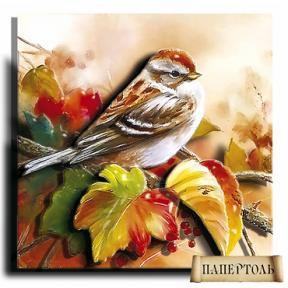 """Картина из бумаги Папертоль РТ150103 """"Осенняя пташка"""""""