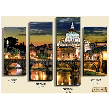 """Картина из бумаги Папертоль MPT0001-MPT0004 """"Вечер в Риме"""" все"""