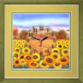 """Набор для вышивания лентами Марічка ЧНЛ-2006 """"Часы.Желтое поле"""