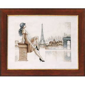 Набор для вышивки крестом Чарівна Мить М-33 Романтический Париж