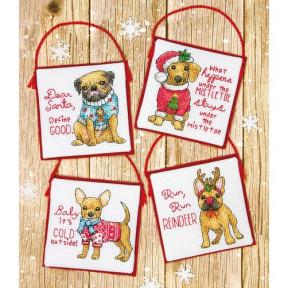 Набор для вышивания крестом Dimensions 70-08972 Christmas Pups