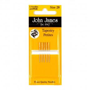 Набор коротких гобеленовых игл №24 (6 шт) John James JJ19924