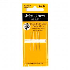 Набор коротких бисерных игл Short Beading №12 (4шт) John James JJ10712
