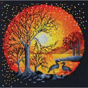 "Набор для вышивания крестом Абрис Арт АН-021 ""Цапли на закате"""