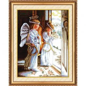 """Набор для вышивания крестом Абрис Арт АН-001 """"Ангелы"""" фото"""