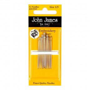 Набор игл для вышивки гладью №3 (12шт) John James JJ13503 фото