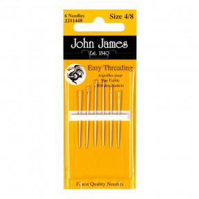 Набор легкоодеваемых игл для шитья №4/8 (6шт) John James