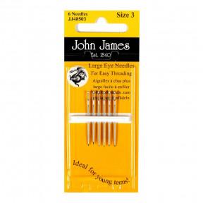 Набор игл для шитья c большим ушком №5 (6 шт) John James
