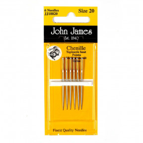Набор игл для вышивки лентами №22 (6 шт) John James JJ18822 фото