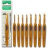 Крючок для вязания алюминиевый с мягкой ручкой 1005-E3.5 Clover