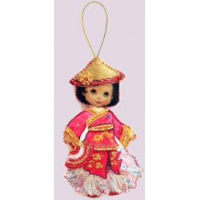 Набор для вышивания бисером Butterfly F 060 Кукла. Китай