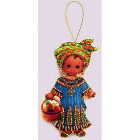 Набор для вышивания бисером Butterfly F 063 Кукла. Африка