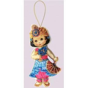 Набор для вышивания бисером Butterfly F 065 Кукла. Восток