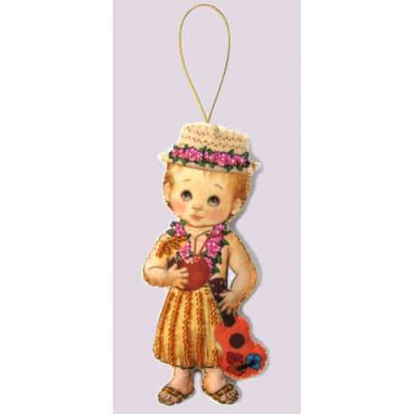 Набор для вышивания бисером Butterfly F 075 Кукла. Гавайи-М фото