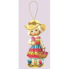 Набор для вышивания бисером Butterfly F 077 Кукла. Туристка