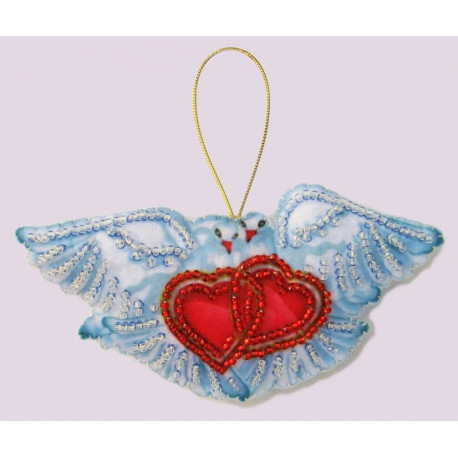 Набор для вышивания бисером Butterfly F 093 Голуби фото