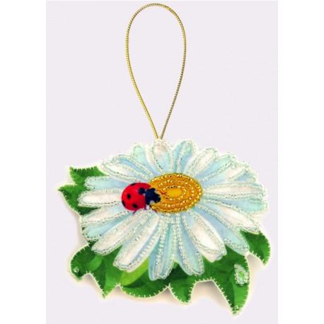 Набор для вышивания бисером Butterfly F022 Ромашка фото