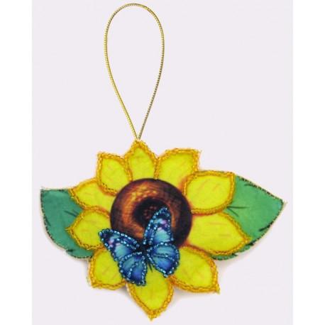 Набор для вышивания бисером Butterfly F023 Подсолнух фото