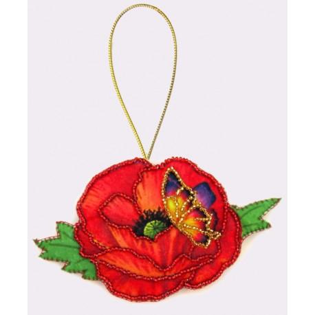 Набор для вышивания бисером Butterfly F024 Мак фото