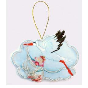 Набор для вышивания бисером Butterfly F037 Аист с девочкой