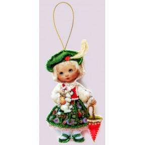 Набор для вышивания бисером Butterfly F041 Кукла. Франция