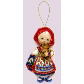 Набор для вышивания бисером Butterfly F046 Кукла. Россия