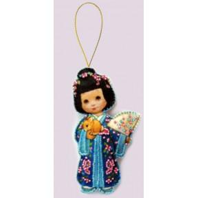 Набор для вышивания бисером Butterfly F047 Кукла. Япония