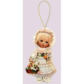 Набор для вышивания бисером Butterfly F048 Кукла. Италия