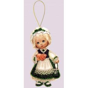 Набор для вышивания бисером Butterfly F049 Кукла. Ирландия