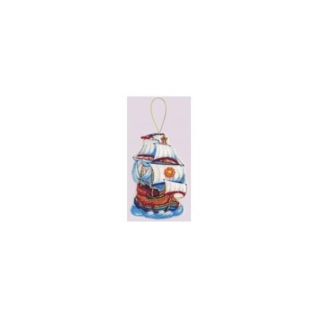 Набор для вышивания бисером Butterfly F102 Корабль фото