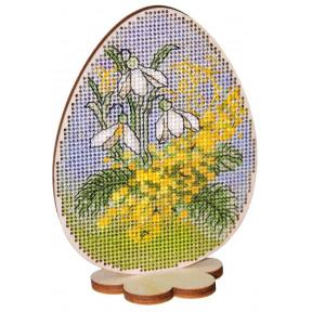 Набор для вышивки крестом Alisena 5504-А Пасхальная -мимоза –