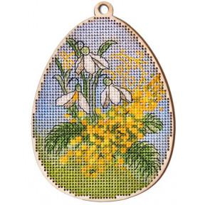 Набор для вышивки крестом Alisena 5504-Б Пасхальная -мимоза – с