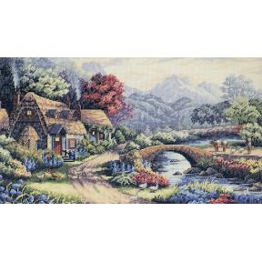 Набор для вышивания крестом Classic Design Английский коттедж 4447