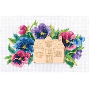 Набор для вышивки крестом RTO MBE9002 Улица цветов
