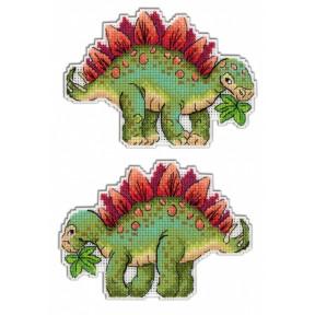 Набор для вышивки крестом МП Студия Р-270 Динозавры. Стегозавр