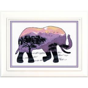 Набор для вышивки крестом Овен 1049 В мире животных. Слон