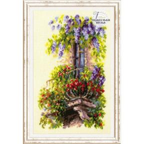 Набор для вышивки крестом Чудесная игла 74-05 «Балкон возлюбленной»