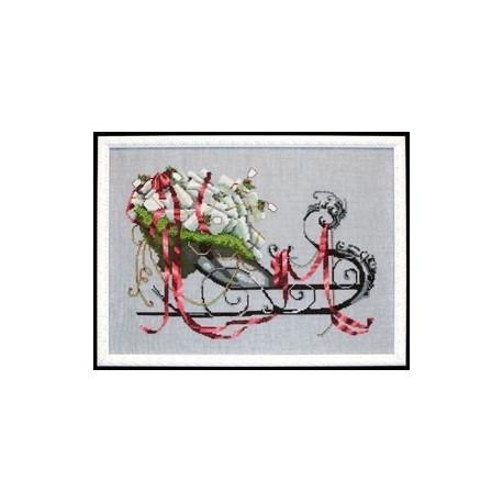 "Схема для вышивания ""Santas Sleigh//Сани Санты"" Nora Corbett"