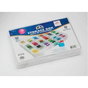 Коробка-органайзер для бобин + 50 бобин 6118/6 фото