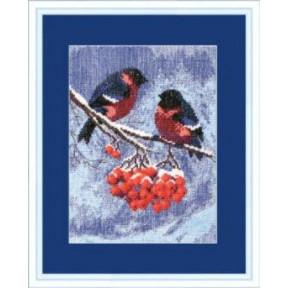 Набор для вышивки крестом Чарівна Мить 283ч Снегири