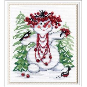 Набор для вышивки крестом МП Студия НВ-257 Снежная баба