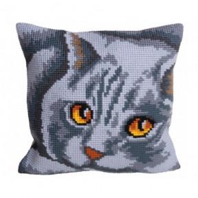 """Подушка для вышивания крестом Collection D'Art 5083 """"Mrs. Lavender"""""""