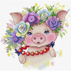Набор для вышивки крестом МП Студия М-329 Розовая модница
