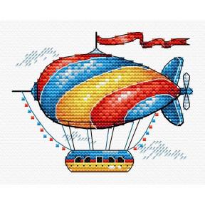 Набор для вышивки крестом МП Студия М-365 Сказочный аэростат
