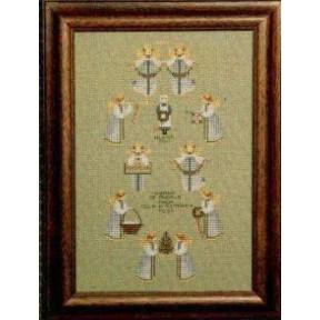Схема для вышивания Lavender Lace TG27 Band of Angels фото