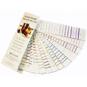 Живая карта цветов металлизированных нитей KMCC Kreinik фото