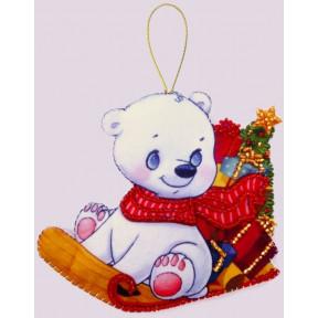 Набор для вышивания бисером Butterfly F 139 Белый медвежонок