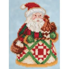 Набор для вышивания Mill Hill JS205104 Early Morning Santa