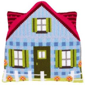 Набор для вышивки подушки с задником Vervaco PN-0147191 Синий домик